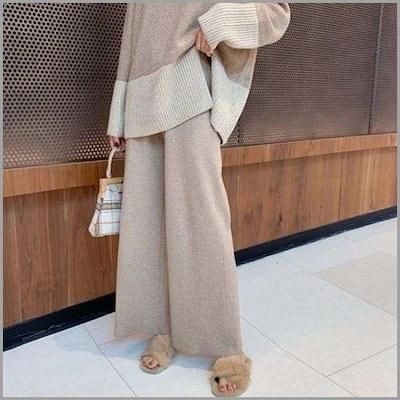 [ドレス飛ぶ][行き来するように/ドレス飛ぶ]気楽に着ているハイウェストバンディングワイド・パンツ(mpt1126) /パンツ/ スーツのパンツ/韓国ファッシム