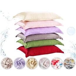 シルクサテン枕カバー ホームマルチカラーアイスシルクシルクシルクシングル枕カバー oxd