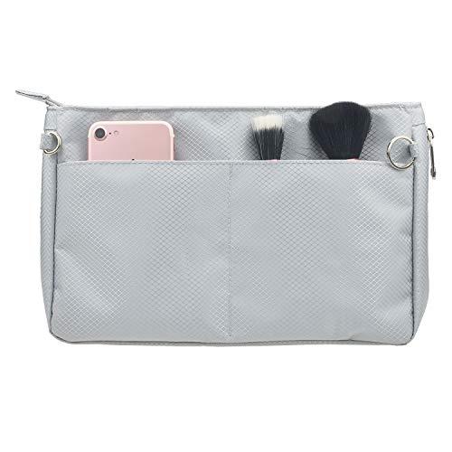 YIICOOLY 拡張可能 バックインバック メンズ レディース Organizer Bag in Bag バッグインバッグ 軽 人気 仕切り インナーバッググレーL:横33cm 縦21cm 幅8-1