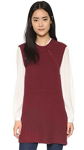 By Malene Birger Womens Darlis Tunic, Burgundy Red, Medium
