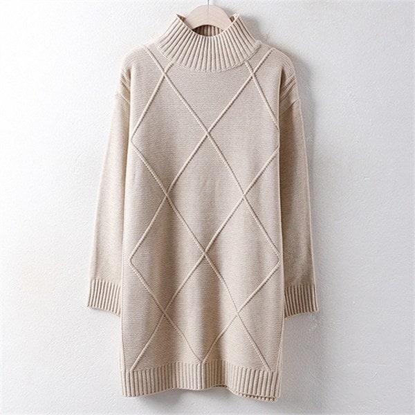 子供ウーマンダイヤのポーラ・ロング・ニットEB 1801ビッグサイズnew ニットワンピース/ワンピース/韓国ファッション