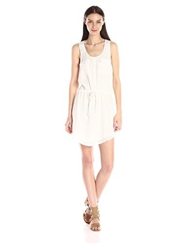 Joie Womens Mikayla Cotton Dress, Porcelain, Medium