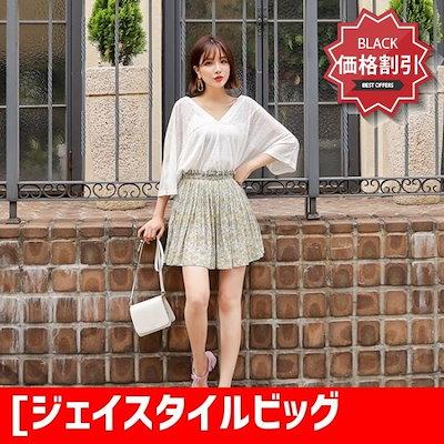 [ジェイスタイルビッグサイズジェイスタイルベリジュフ ラワープリーツパンツスカート 大きいサイズ/パンツ/韓国ファッション