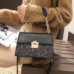 韓国ファッション  レディースファッション  肩掛けかばん   カジュアル   ショルダーバッグ   ハンドバッグ  チェーン付けショルダー