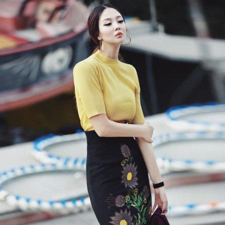 【ディントゥ] E1544カイルベーシックニットトップkorea fashion style