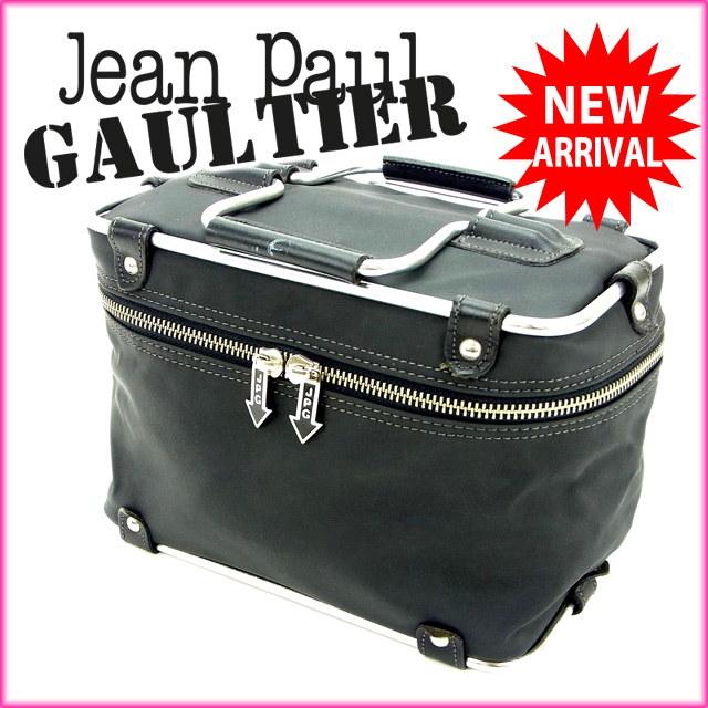 ジャンポール・ゴルチェ Jean Paul Gaultier ハンドバッグ /バニティ フレームバニティ ブラック×シルバー ナイロン×メタル (あす楽対応)(廃盤レア・美品)【中古】 Y526 .
