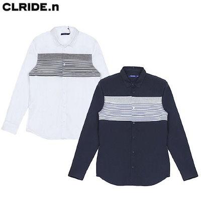 [AK公式ストア]【clide】メンズ配色シャツ(FICSH350M)