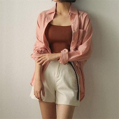 thin loose fit cotton shirts new 女性ブラウス/ブラウス/その他/韓国ファッション