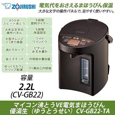 VE電気まほうびん 優湯生 CV-GB22