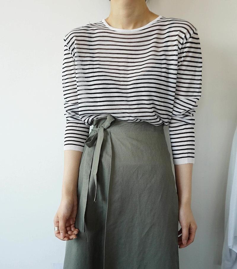 [ラルム】ジャンジュルSTサマーニット3col korea fashion style
