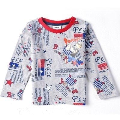 卸売2014春新ポパイの男の男の子長袖Tシャツ