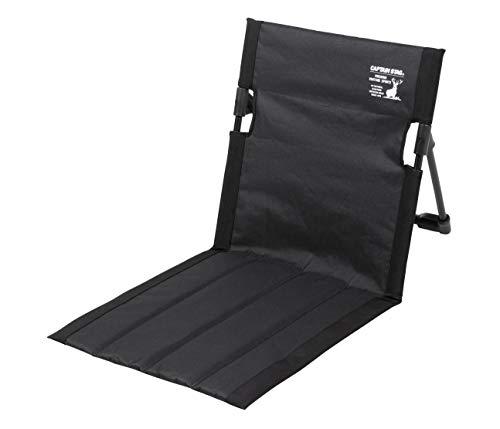 キャプテンスタッグ(CAPTAIN STAG) アウトドアチェア チェア グランドチェア 座椅子 フィールド座椅子 幅40×奥行68×高さ39cm 重量約530g 収納バッグ付き ブラック