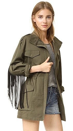 BCBGMAXAZRIA Womens Stafford Jacket, Dark Olive, Large