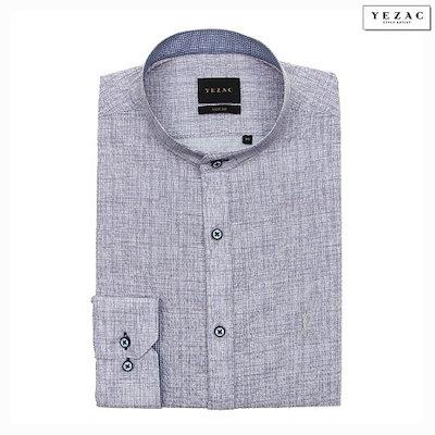 YEZAC[AK公式ストア]【YEZAC】メンズニップルソリッドヘンリーネックシャツYJ9SBS522GY