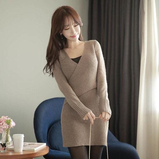 フィオナニトゥレプopsm5839ワンピース ニット・ワンピース/ 韓国ファッション