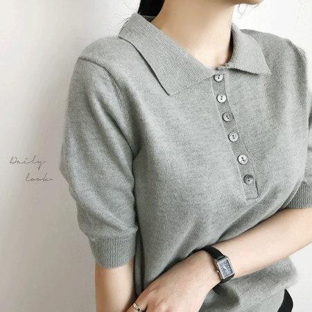 エテニルカラーニットKorean fashion style