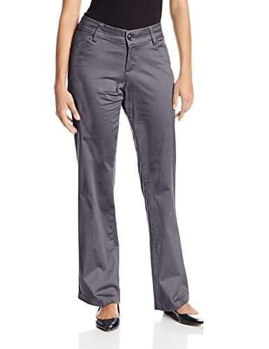 Lee Womens Petite Modern Series Curvy Fit Maxwell Trouser, Carbonite, 4 Petite