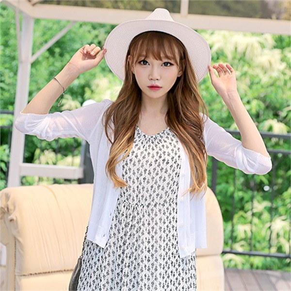 cd057、チェリー・シュシュ夏カディゴンビーチウェアデイリーシースルー網タイツnew 女性ニット/カーディガン/韓国ファッション