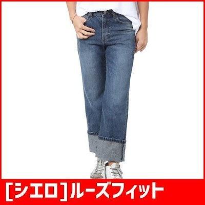 [シエロ]ルーズフィット日付ロールアップDENIM PT(SE4DPF164) /パンツ/ショートパンツ/デニムパンツ/韓国ファッション