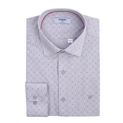 [AK公式ストア]【renoma shirts] RJSSL0-138 GYドットオールオーバープリントシャツ