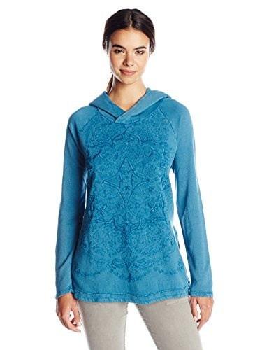 Lucky Brand Womens Textured Pullover Sweater, Medium Blue, Medium