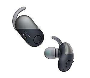 【工場再生品】SONY ソニー WF-SP700N B ブラック Bluetoothイヤホン ワイヤレスノイズキャンセリングステレオヘッドセット [並行輸入品]