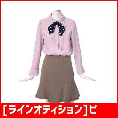 [ラインオディション]ピンタック・ポイント、スカーフ、ブラウスNWBLII0300 /プリントシャツ/ブラウス/シャツ/韓国ファッション/