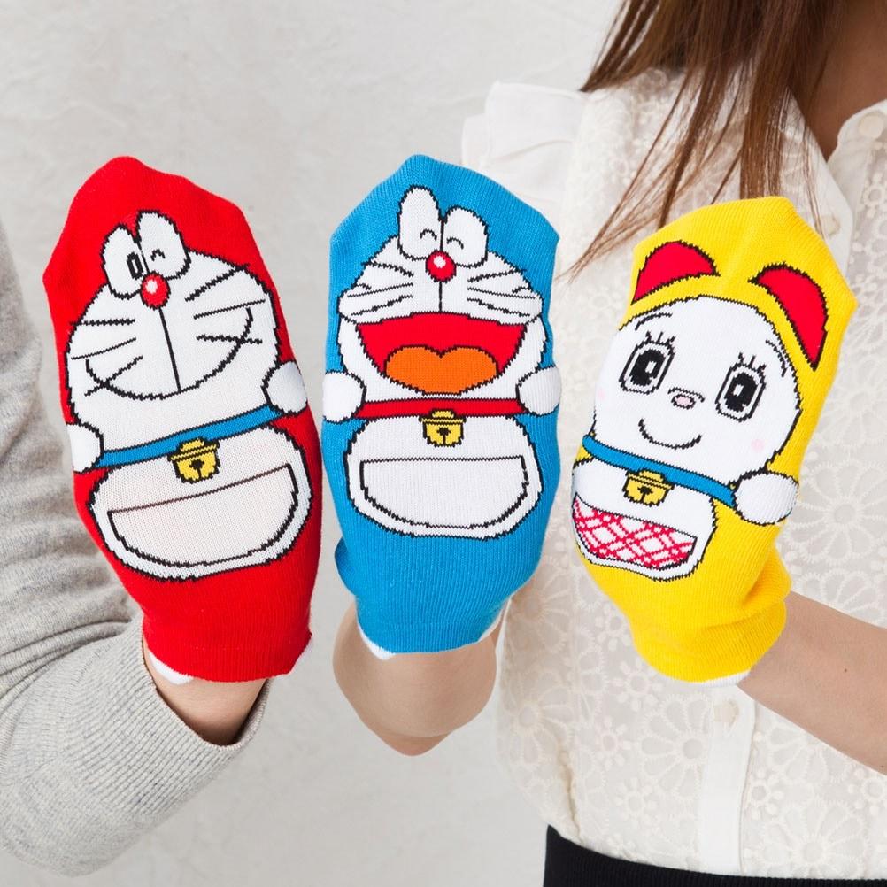 パペットソックス ドラえもんシリーズ (ドラえもん・ドラミちゃん・ミニドラ) 23-25cm スニーカー丈 靴下
