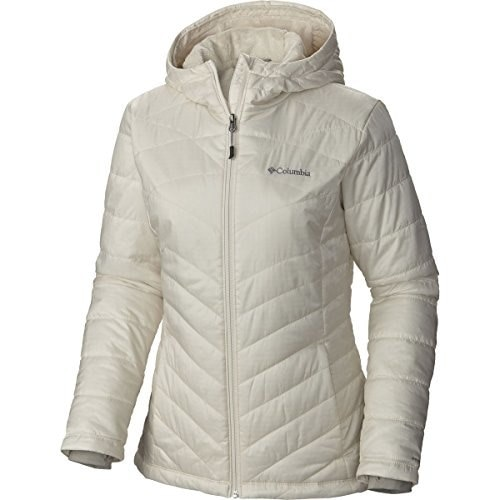 Columbia Womens Mighty Lite Hooded Plush Jacket, Chalk, Large
