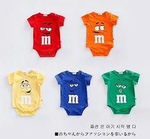 韓国の子供服、子供 かわいい 赤ちゃん服 全綿 夏 薄い 半袖 新生児ベビー服 ロンパース 男性と女性の赤ちゃん