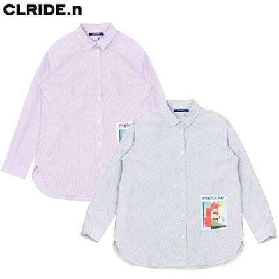 [AK公式ストア]【clide]女性ストライプシャツ(FICSH852F)