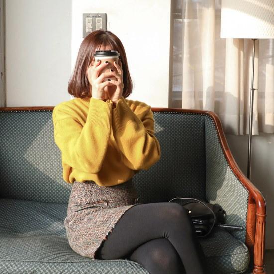 チェリーココour time、knitC712PHKN209ウルニトゥルーズフィットパクシシボリI / ニット/セーター/ニット/韓国ファッション