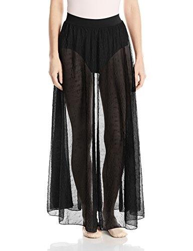 Capezio Womens Windswept Love Skirt, Black, Medium