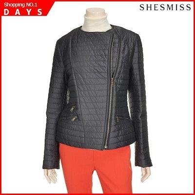 [シーズ・ミス][シーズ・ミス(SHESMISS)]死線ジップアップ、ペディング・ジャンパーSSJPE50530DG / パディング/ダウンジャンパー/ 韓国ファッション