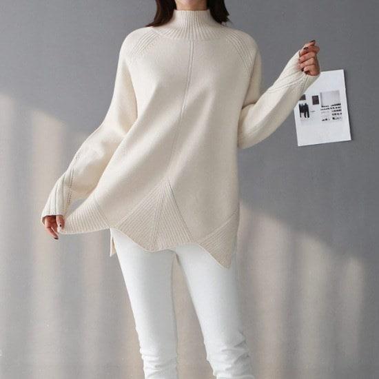 オーサムゴールデンウエーブ反目ニット233635 ニット/セーター/ニット/韓国ファッション