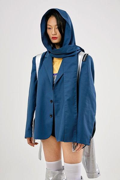 MORE THAN DOPE韓国ファッションブランドMORE THAN DOPE公式販売店ASELLER 19SSシーズン Obi blazer (peacock blue)