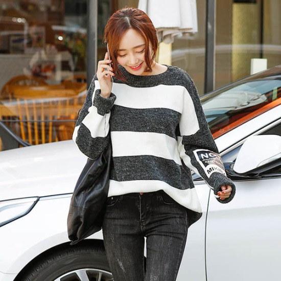 シーフォックスがキバン・ストライプニット ニット/セーター/ニット/韓国ファッション