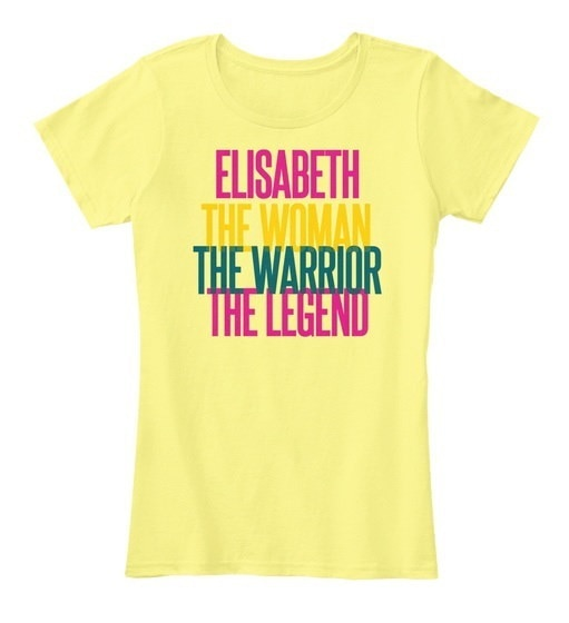 Elisabeth   The Woman The Warrior Women s Premium Tee