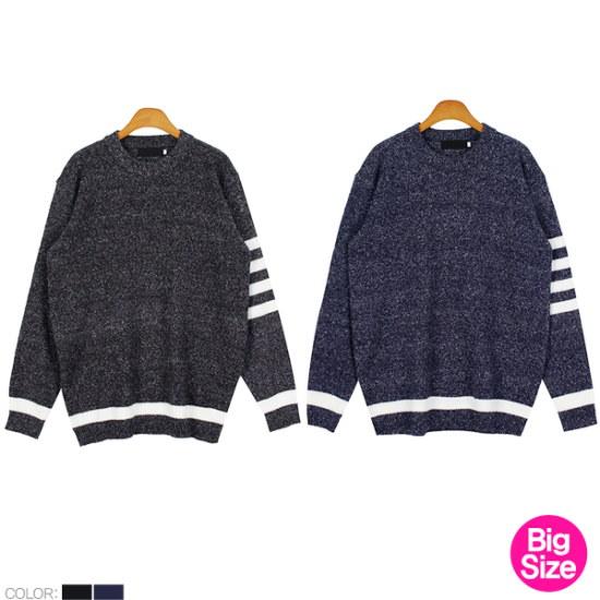ピトンジンSRピトンジンBIG25男ビックサイズの小売死線長い腕ニットD ニット/セーター/ニット/韓国ファッション