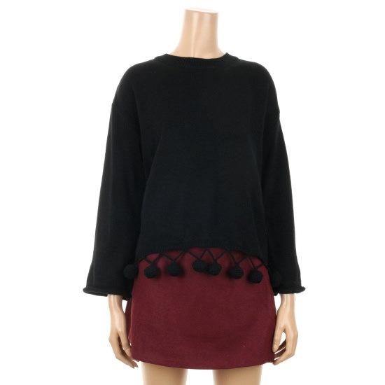 プラスチックアイルランドの裾滴ポイントワイド小売ニートPGEBY641 ニット/セーター/韓国ファッション