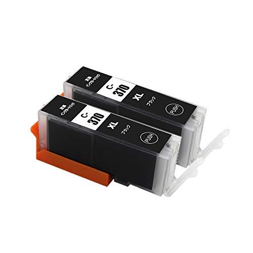 【送料無料】【森下問屋】BCI-370XLBK(ブラック) お得な2本セット 大容量タイプ ISO14001/ISO9001認証 キヤノン用互換インクカートリッジ 残量表示機能付