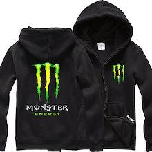 Monster Energy モンスターエナジートップス パーカー おしゃれ スウェットシャツ  通学 メンズ 長袖 上着フード付き ポケット春秋冬3シーズン ブラック