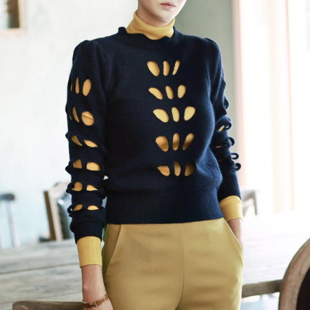 【ディントゥ] E1415大善寺ナットニットトップkorea fashion style