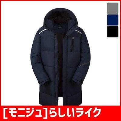 [モニジュ]らしいライク小売ポケットストラップロングジャンパーはPJP270 / パディング/ダウンジャンパー/ 韓国ファッション