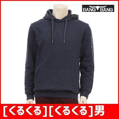 [くるくる][くるくる]男女ソリッドプリントフードシャツのネイビー /フッド/ジップアップティーシャツ/ 韓国ファッション