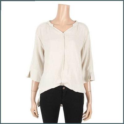 [テンコス]小売開けたことブイネクしわブラウス(TR1BL056L0) /ルーズフィット/ロングシャツ/ブラウス/ 韓国ファッション