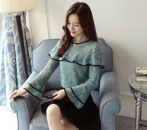 レディース シャツ ブラウス ビショップスリーブ シャツ 韓国ファッション