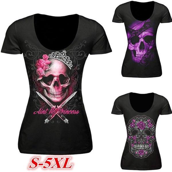 女性のファッション半袖OネックスカルプリントカジュアルスリムTシャツWZC6594
