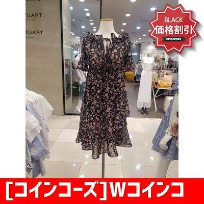[コインコーズ]Wコインコーズフ ラワーバンディングワンピースIW8MO379 /ワンピース/綿ワンピース/韓国ファッション