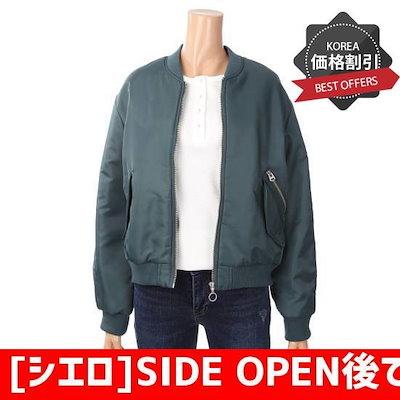 [シエロ]SIDE OPEN後であるポケット航空JP(SD1JPF129) /野球ジャンパー/スポーティジャンパー/韓国ファッション
